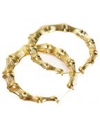 Boucles d'oreilles créoles ethniques, doré