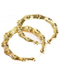 Boucles d'oreilles créoles ethniques dorées