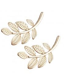 Boucles d'oreilles feuilles dorées 2 cm