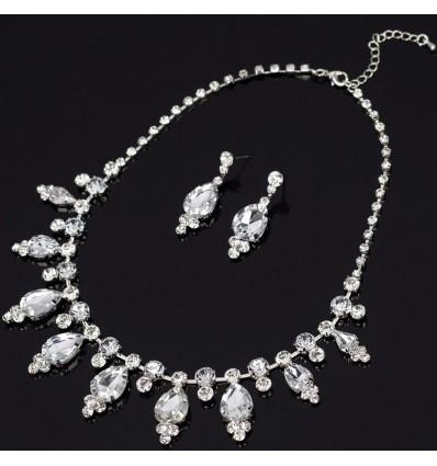 Parure bijoux mariage, argenté