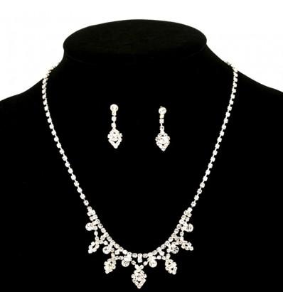 Parure bijoux mariée, argenté