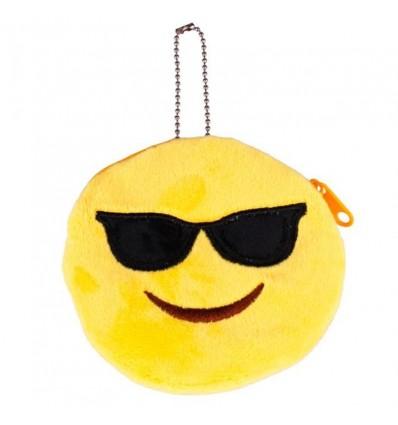 Porte-monnaie smiley lunettes