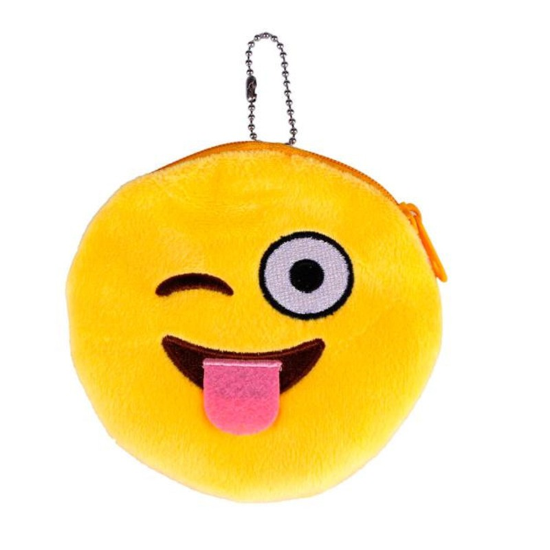 Porte Monnaie Smiley Clin D Oeil Jaune My Trendymood