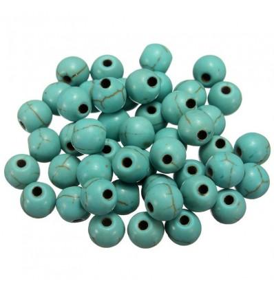 Perles fabrication bijoux 4 mm, turquoise