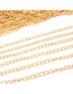 Chaîne DIY fabrication bijoux avec fermoir 50 cm, doré