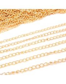 Chaîne DIY fabrication bijoux, doré