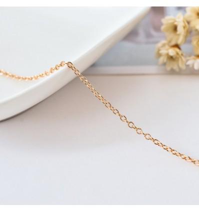 Chaîne fine DIY fabrication bijoux 50 cm, doré