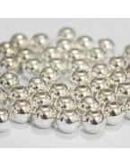 Perles couleur argent - 6 mm - x50