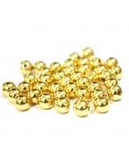 Perles couleur or - 6 mm - x50