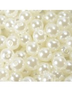 Perles blanc cassé - 8 mm - x50
