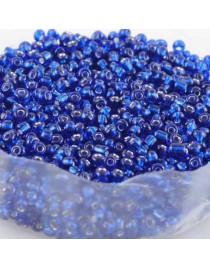 Perles de rocaille en verre, bleu clair - 2 mm - x1000