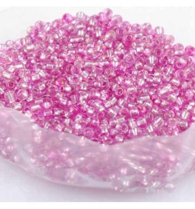 Perles de rocaille en verre, rose - 2 mm - x1000