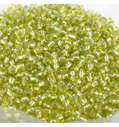 Perles de rocaille en verre, vert clair - 2 mm - x1000