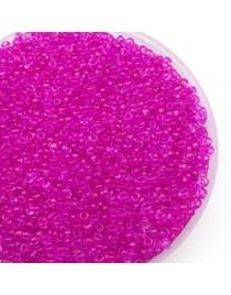 Perles de rocaille en verre, rose fuchsia- 2 mm - x1500