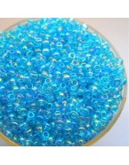 Perles de rocaille, bleu transparent- 2 mm - x1500