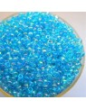 Perles de rocaille, bleu transparent- 2 mm - x1500