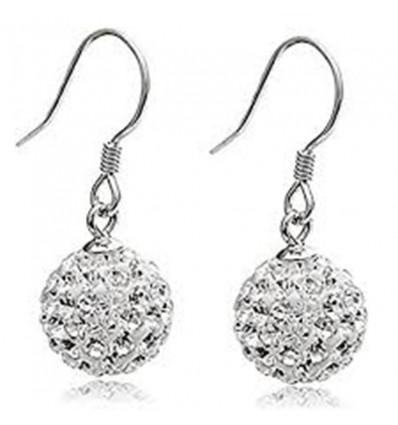 Boucles d'oreilles mariée avec cristaux