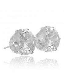 Boucles d'oreilles diamant argent