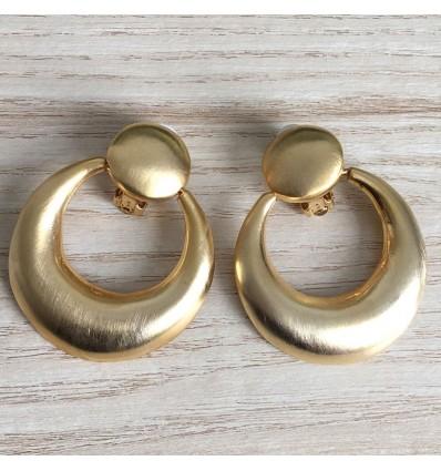 Boucles d'oreilles pendantes clips, doré