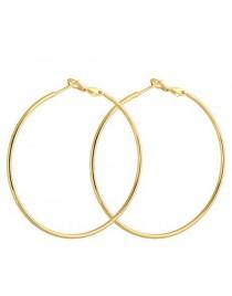 Boucles d'oreilles créoles d10 cm, doré