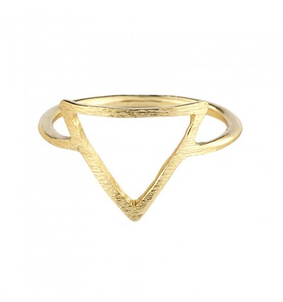 Bague triangle, doré