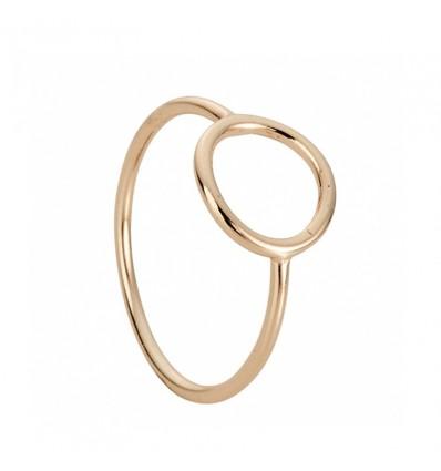 Bague anneau, doré