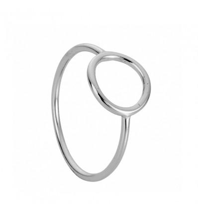Bague anneau, argenté