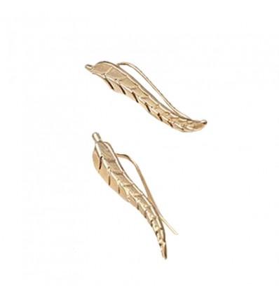 Boucles d'oreille feuilles dorées