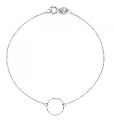 Bracelet fin anneau, argent