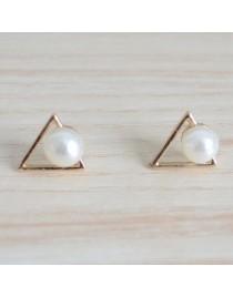 Boucles d'oreilles triangle et perle