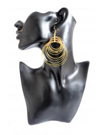 Boucles d'oreilles créoles multiples, doré