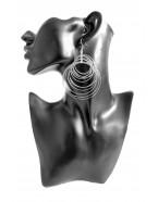 Boucles d'oreilles créoles multiples, argenté