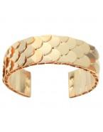 Bracelet écailles, doré