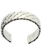 Bracelet écailles, argenté