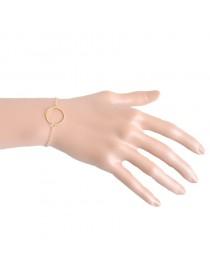 Bracelet fin anneau, doré