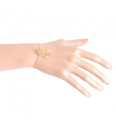 Bracelet fin dreamcatcher, doré