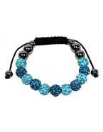 Bracelet shamballa, bleu