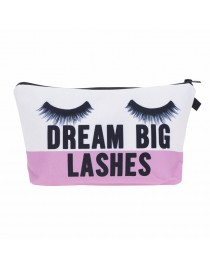 Trousse de maquillage lashes, rose/blanc