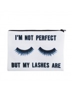 Trousse de maquillage lashes, blanc
