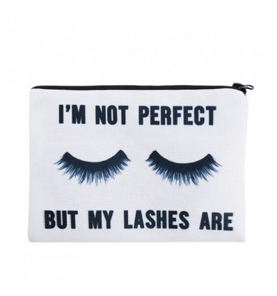 Trousse de maquillage lashes, blanc
