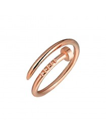 Bague clou, rose gold