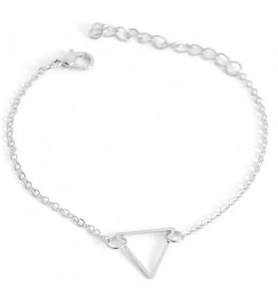 Bracelet fin triangle, argenté