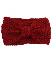 Bandeau headband en coton mélangé, rouge bordeaux