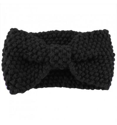 Bandeau headband en coton mélangé, noir