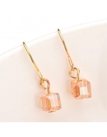 Boucles d'oreilles effet cristal, champagne