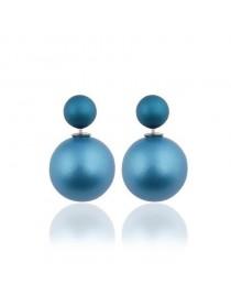 Boucles d'oreilles inspiration tribale, bleu foncé