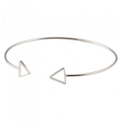 Bracelet double flèche, argenté