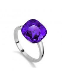 Bague pierre avec pierre, violet