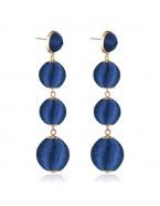 Boucles d'oreilles pendantes boules, bleu