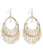 Boucles d'oreilles chandelier, blanc